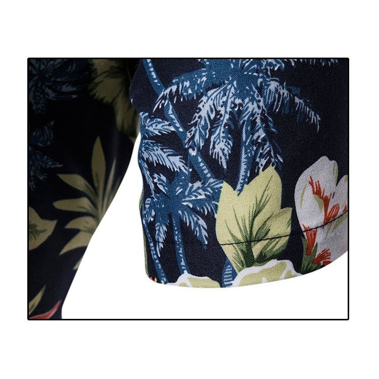 Kemeja Batik Corak Bunga Lelaki Men's Casual Summer Floral Shirt Code-31