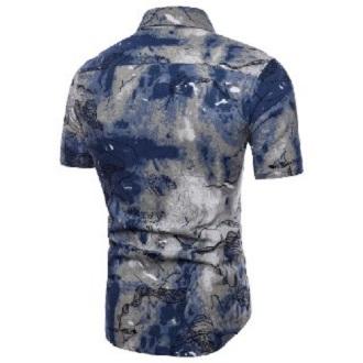 Kemeja Batik Corak Bunga Lelaki Men's Casual Summer Floral Shirt Code-16