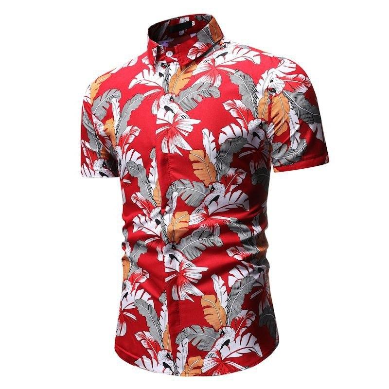 Kemeja Batik Corak Bunga Lelaki Men\'s Casual Summer Floral Shirt Code-35