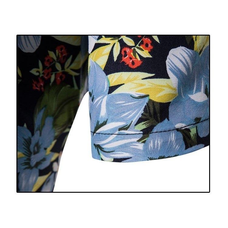 Kemeja Batik Corak Bunga Lelaki Men's Casual Summer Floral Shirt Code-33