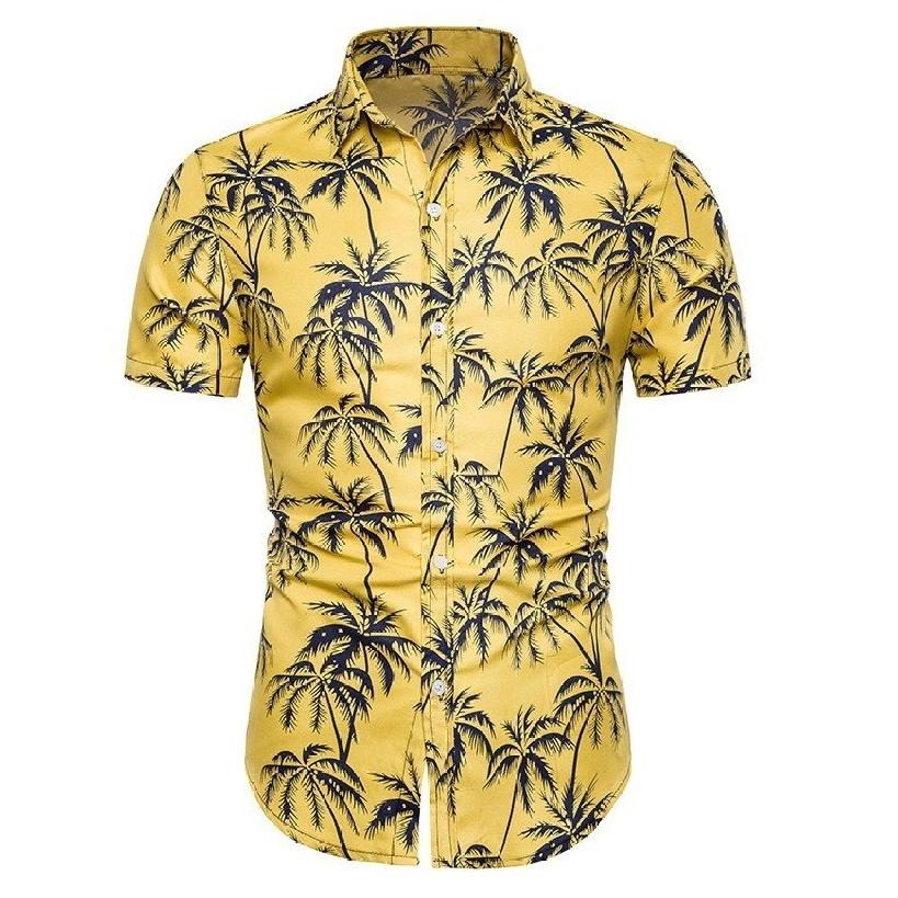 Kemeja Batik Corak Bunga Lelaki Men\'s Casual Summer Floral Shirt Code-37