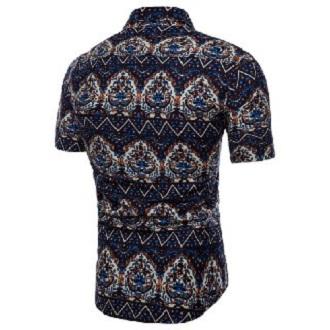 Kemeja Batik Corak Bunga Lelaki Men's Casual Summer Floral Shirt Code-17