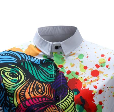 Kemeja Batik Corak Bunga Lelaki Men's Casual Summer Floral Shirt Code-55