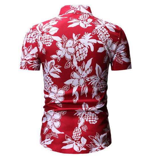 Kemeja Batik Corak Bunga Lelaki Men's Casual Summer Floral Shirt Code-67