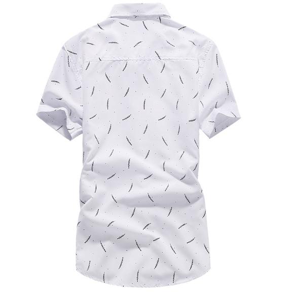 Kemeja Batik Corak Bunga Lelaki Men's Casual Summer Floral Shirt Code-77