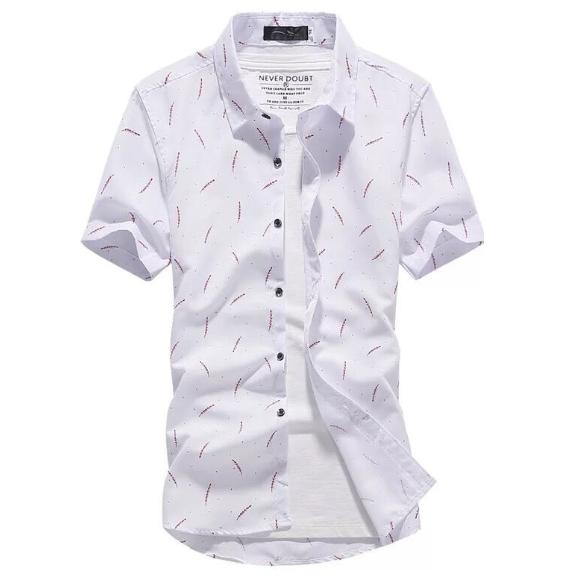 Kemeja Batik Corak Bunga Lelaki Men\'s Casual Summer Floral Shirt Code-77