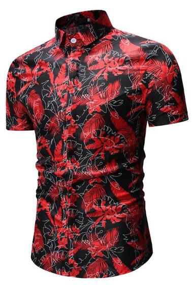Kemeja Batik Corak Bunga Lelaki Men's Casual Summer Floral Shirt Code-79